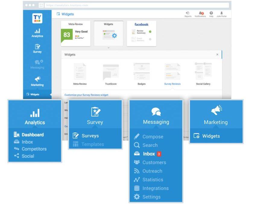 TrustYou guest feedback platform interface