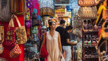 woman shops in chatuchak