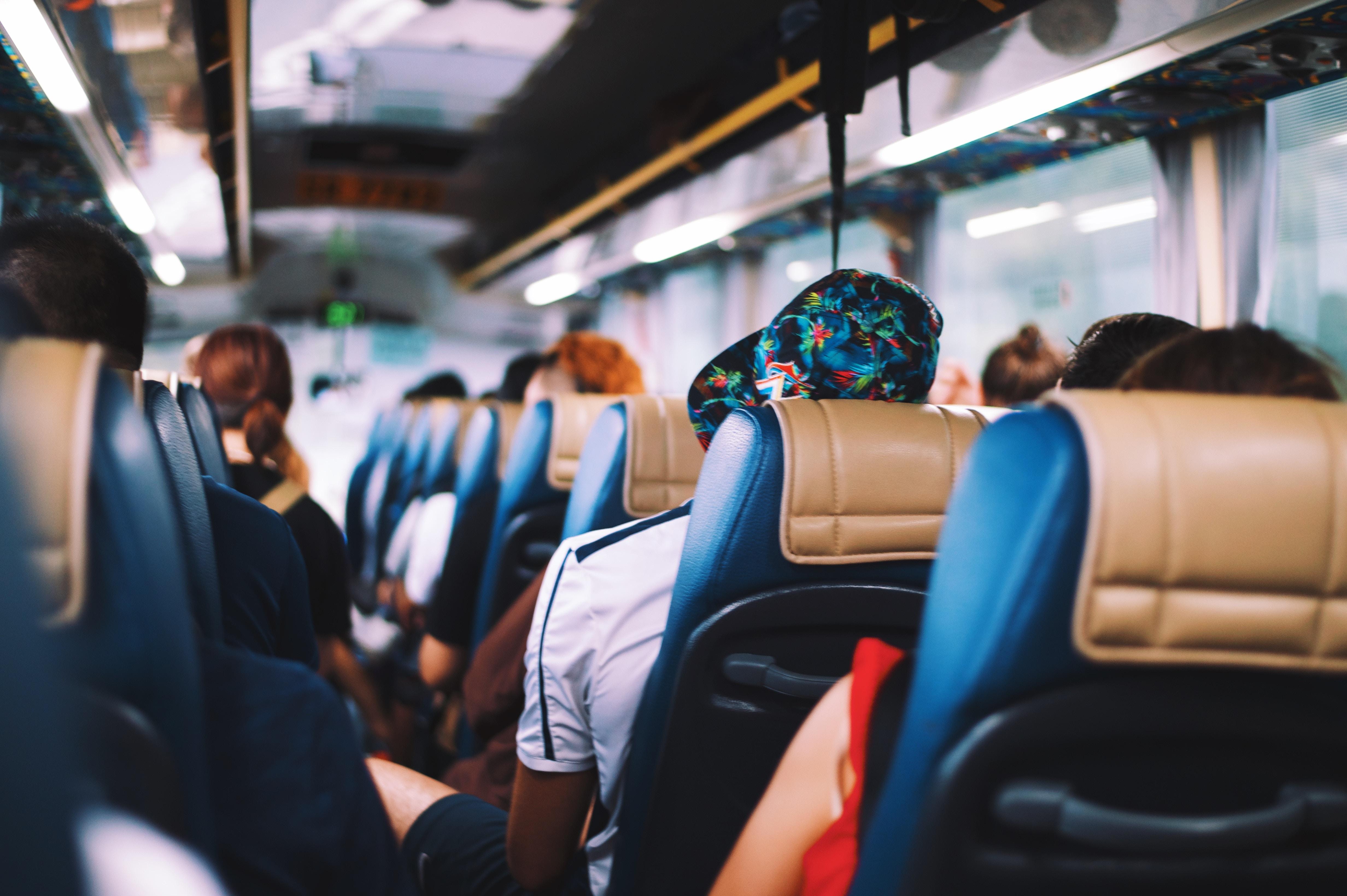 Tourists on a bus