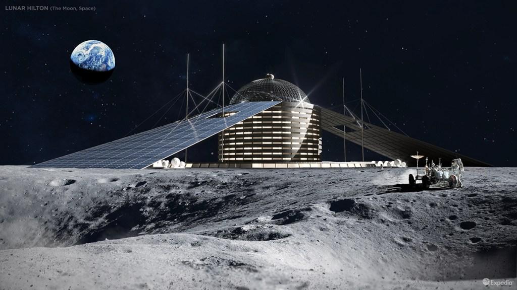 Lunar Hilton Hotel - 6 amazing hotels never built