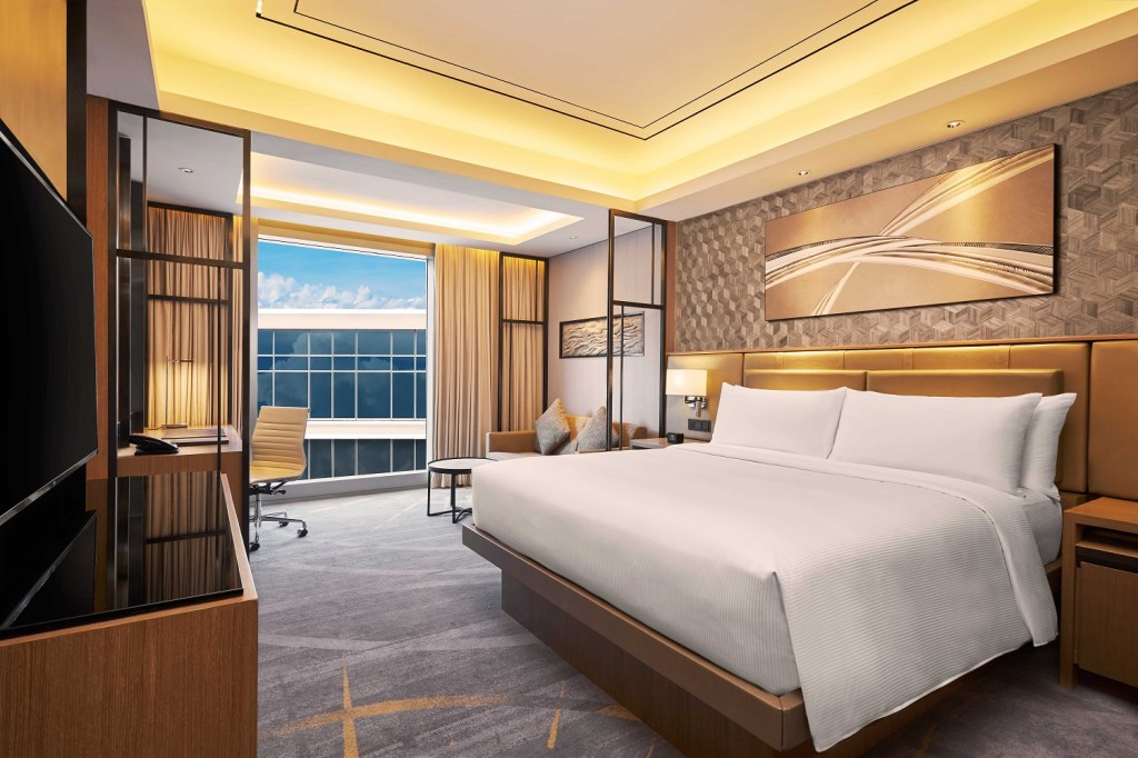 King Guest Room with Pool View at Hilton Manila
