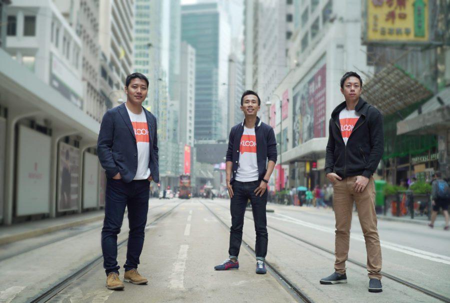 Klook founders -Bernie Xiong, Ethan Lin and Eric Gnock Fah