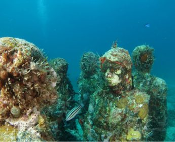 Islas Mujeres underwater museum in Cancun