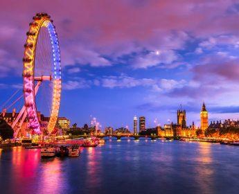 London Eye at evening